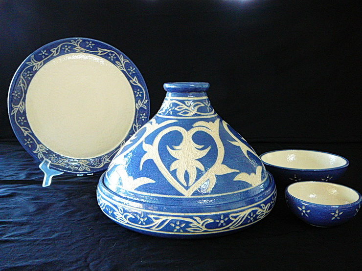 Pottery Ceramic Tagine Set