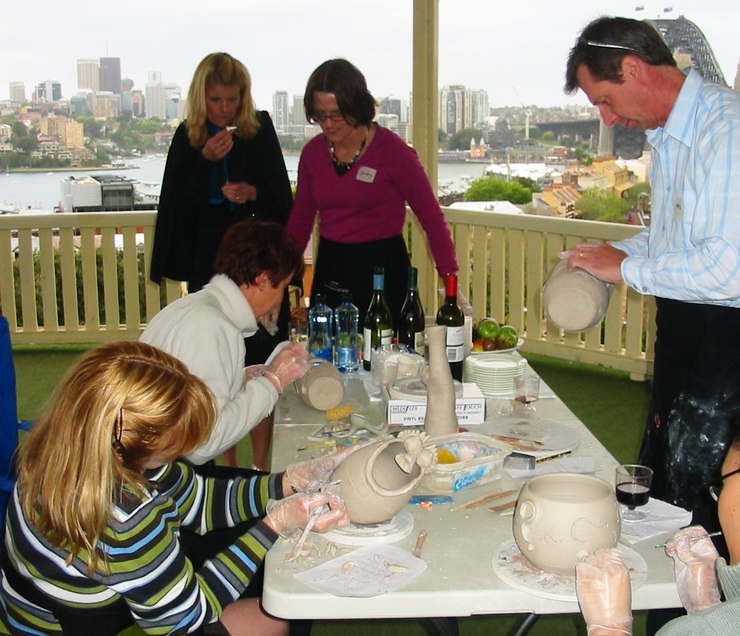 Sydney Team Building Ceramic Painting