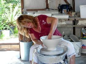 Pottery Studio Throwing Lid
