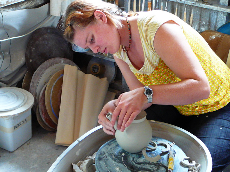 Advanced Pottery Wheel Class Making Teapot