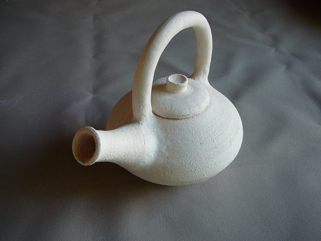 Advanced Pottery Wheel Class Teapot Unglazed