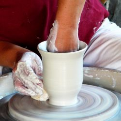 Pottery Class Wheel Throwing Cup