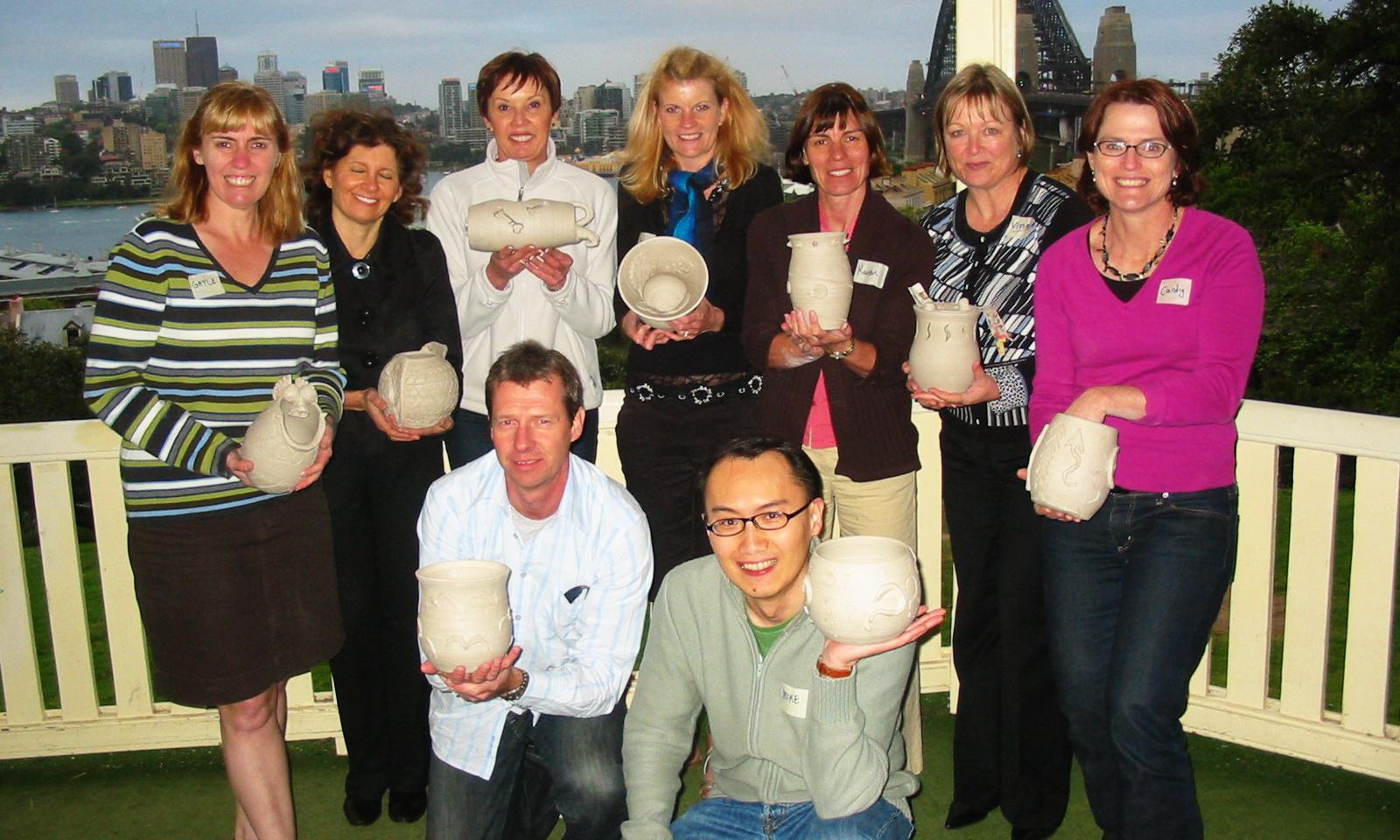Sydney Team Building Pottery Workshop